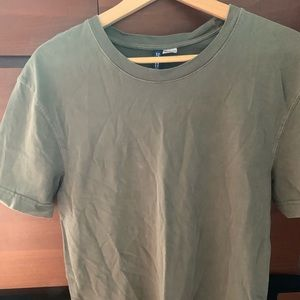 H&M Long Fit Olive Green shirt